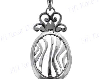"2 1/8"" Handcrafted 925 Sterling Silver Pendant"