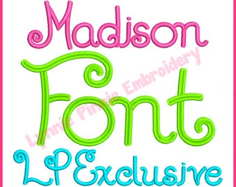 Madison Embroidery Font  Exclusive Hand-drawn alphabet in 5 sizes BX Machine Embroidery Design