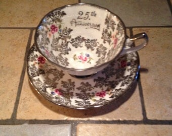 25th Anniversary China Cup and Saucer Set