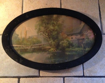 Country Scene Framed Picture