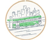 West Coast Embroidery Kit Series - San Francisco's Streetcar