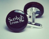 Scotch Loves Me Whisky Cufflinks