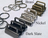 Lazy Girl Designs Key Fob Hardware- Set of 4- Available in nickel, antique brass and dark slate