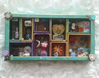 A Fun Little Shadowbox Assemblage Sculpture