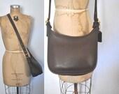 Coach Bag Brown Leather / Messenger Satchel purse