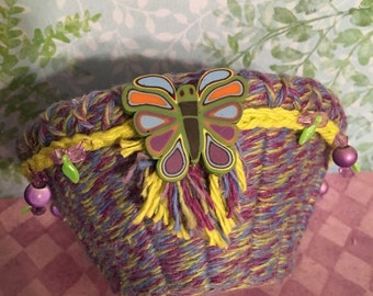 Small Butterfly Soft Basket
