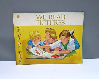Dick & Jane Soft Cover Workbook We Read Pictures 1962 Edition Vintage School Book