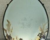 pressed flower vintage hanging mirror