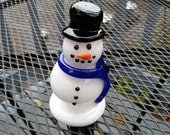 Black Top Hat Glass Snowm...
