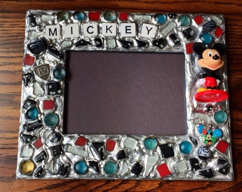Mickey Picture Frame (holds a 5 x 7 photograph)