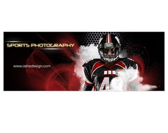 Photoshop Template | Amped-Up Sports | Facebook Timeline Cover | Screen Play | 1 Digital Template for Personal & Business Pages.