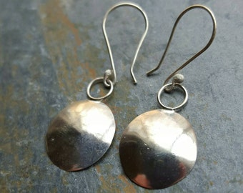 Hammered Sterling Silver Earring