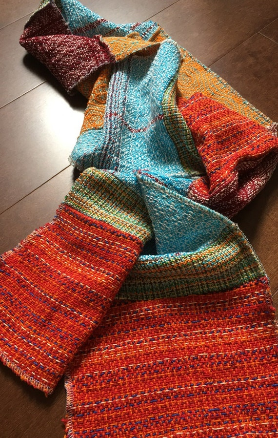 Handwoven and Pieced Scarf