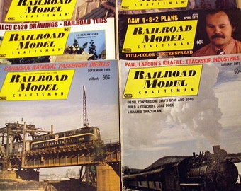 Vintage RAILROAD MODEL CRAFTSMAN Magazine Lot of 8 Back Issues 1960s 70s 80s 90s