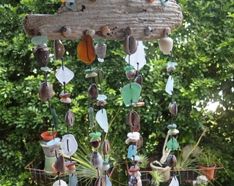 Sea glass wall decor / wind chime