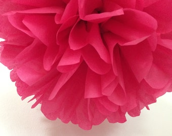 Cranberry ... 1 tissue paper pom // wedding ceremony // birthday // anniversary // party decorations