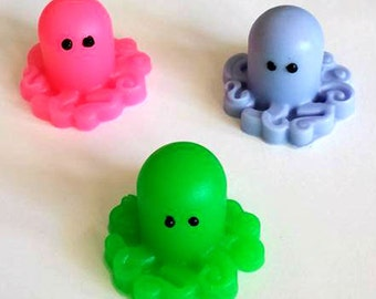 Kawaii Octopus Soap - Set of 4 - Ocean Soap - Seaside Soap - Free U.S. Shipping - Kawaii Ocean - Sea Creatures - Handmade Soap