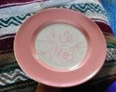 1 DAY SALE Vintage Pink Flower Syracuse China Dinner Plate