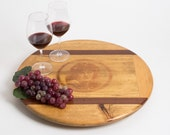 Large Bond Matriarch Wine Crate Lazy Susan with Inlay