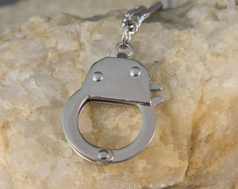 Ladies Stainless Steel Handcuff Necklace