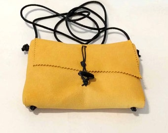 Honey Mustard Mama Hippo Cross Body Shoulder Bag