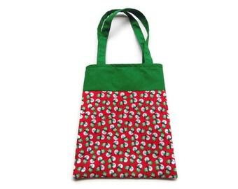 Fabric Christmas Gift/Goodie Bag - Snowmen
