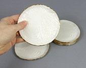Gold Rimmed Faux Bois Mini Plates