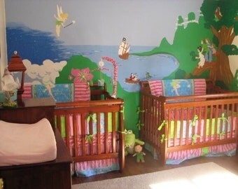 Tinkerbell Crib Mini Crib Nursery Toddler  Girl Bedding Set