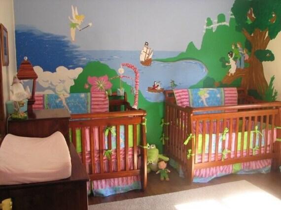tinkerbell crib mini crib nursery toddler girl bedding set. Black Bedroom Furniture Sets. Home Design Ideas