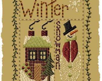 Winter Sampler- Version 1 - 4x4--INSTANT DOWNLOAD