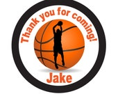 Basketball, Ball, Team, Personalized Stickers, Basketball, Sports, Favor stickers, Thank you stickers set of 24