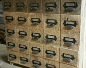 YOUR Reclaimed and Recycled Barn Wood Card Catalog Storage Box With 5 drawers and FREE SHIPPING