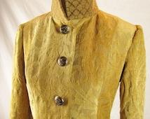 Handmade Gold Pirate Coat