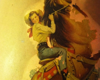 SALE- Awesome 1950's Cowgirl Lamp by Barneche/Stephanie Barnes