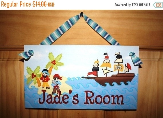 THANK YOU SALE ARghhhhHh Mat-ey Pirate Personalized Door Sign Ds0126