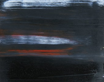 Dark Of Night abstract oil painting landscape