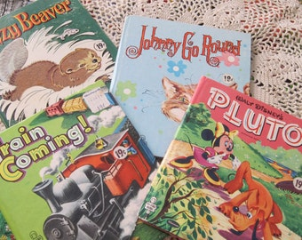 Four Charming Whitman Tell A Tale Childrens Books from the 1950s and 1960s