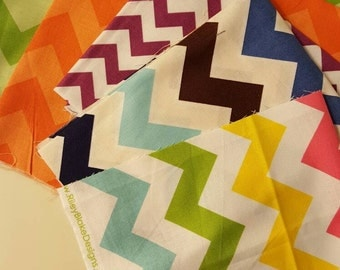 CLEARANCE Ouch Pouch Sale - Your Choice Color and Size Destash Fabric Each Made with Clear Front Pocket - Chevron Styles