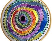 Circular Rainbow - Hand Embroidery Hoop Art