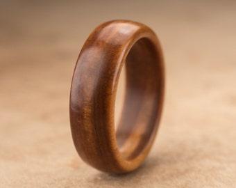 Size 8.75 - Guayacan Wood Ring No. 329