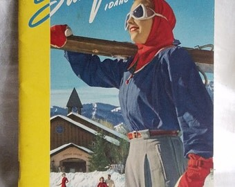 Vintage Sun Valley Idaho 1948-1949 Winter Season Pamphlet by Union Pacific