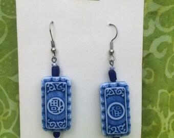 Asian Inspired Dangle Earrings