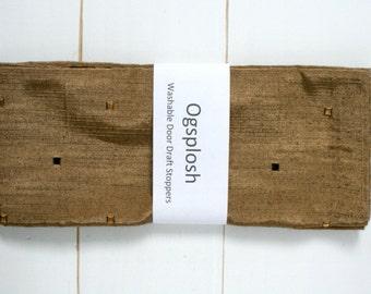 Draft Stopper - Traditional Home Decor - Brown Door Snake - Sepia Draft Stopper. 195