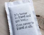 Travel Quote Car Air Freshener, Eco-Friendly Organic Scent Hanging Lavender Sachet