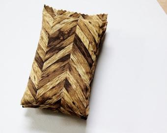 Teak Woodgrain Balsam Sachets - Cotton Anniversary Gift for Men - Rustic Bedroom Decor