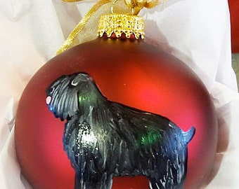 Goldendoodle Dog Hand Painted Christmas Ornament Can Be