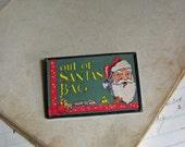Santa Christmas Postcard Pin, The Original Postcard Jewelry, Inventory Sale