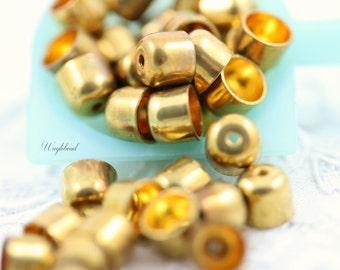 Vintage Bullet End Caps Bead Caps - 20