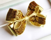 Star Night Gold Sparkle Hair Bow Headband GREAT PHOTOGRAPHY PROP