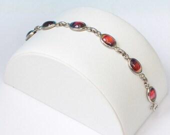 CIJ Sale Sarah Coventry Rainbow Glass Harmony Bracelet Vintage